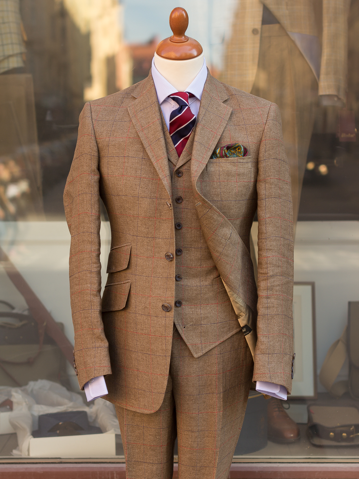 Light Brown 3 Piece Suit Suit La