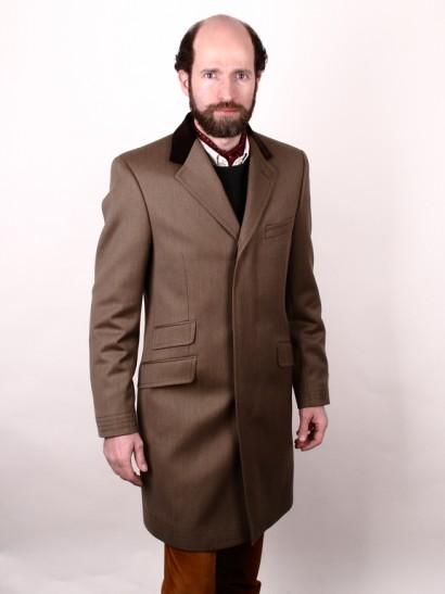 Man in covert coat