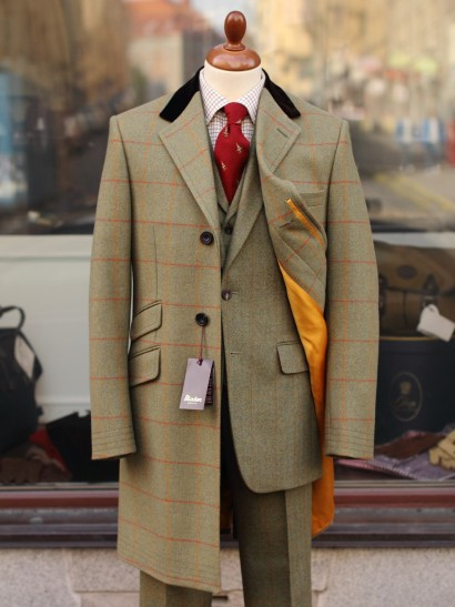 Bladen Green Tweed Topcoat