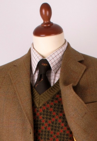 Vee-neck jumper and jacket