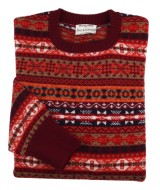 William Lockie for Paul & friends: Crew neck Fair Isle Bordeaux