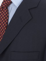 Detail of navy Bladen blazer