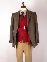 Tweed jacket and cardigan