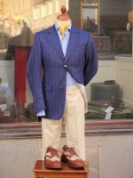 Bladen Blue Pinstripe Blazer