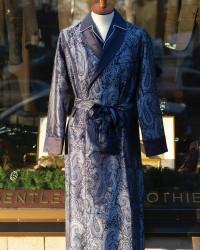 Derek Rose Jaquard Silk Dressing Gown