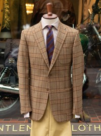 Bladen Gunton Beige Multicheck Tweed Jacket