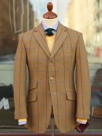 Bladen Hacking Light Brown Herringbone Tweed Jacket