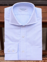 Rayner & Sturges Oxford Cloth Sky/White Shirt