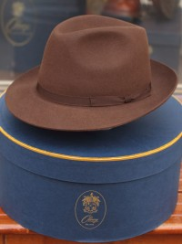 Olney Brown Fur Felt Trilby Hat