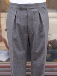 Bladen Pleated Hardy Minnis Flannel Trousers