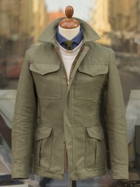 Private White V.C. Heavy Linen Field Jacket Olive
