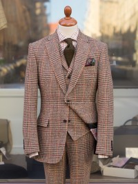 Bladen Harris Tweed Glen Check Three-piece Suit