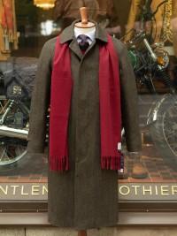 Chrysalis HB Tweed Raglan Coat Olive