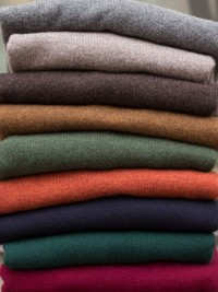 Colours from the top: Cliff, Vole, Cocoa, Kestrel, Rosemary, Tiger, Navy, Tartan, Burgundy