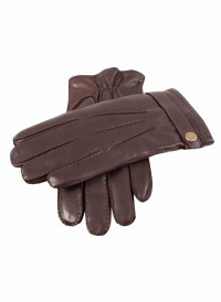 Dents Fur-lined Leather Gloves Brown