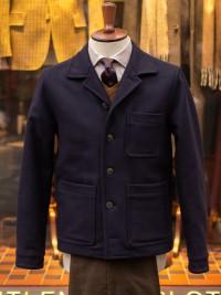 Gloverall Melton Donkey Shirt Jacket Navy