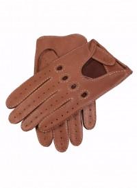 Dents Unlined Deerskin Driving Gloves Tobacco
