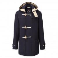 Gloverall Mid Monty Duffle Coat Navy