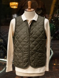 Lavenham Quilted Waistcoat Olive