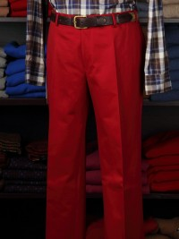Magee Chelsea Red Cotton Twill Trousers
