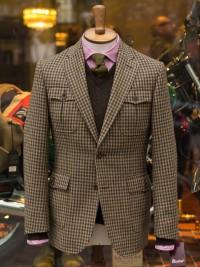 Bladen Gunton Shepherd's Check Norfolk Jacket Green