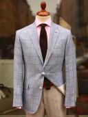 Bladen Gunton Linen/Cotton Blue Check Blazer