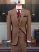 Bladen Brown 3-piece Tweed Suit