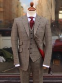 Bladen Russell Check 3-piece Suit
