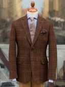 Bladen Harris Tweed Brown Rust Check Gunton Jacket