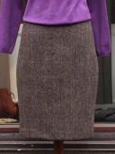 Bladen Light Brown Harris Tweed Skirt