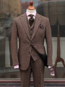 Bladen Brown Micro-check Harris Tweed Three-Piece Suit