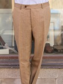 Bladen Irish Linen Soft Tan Mautby Trouser