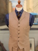Bladen Irish Linen Soft Tan Waistcoat