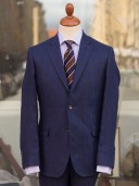 Bladen Navy Linen Gunton Jacket