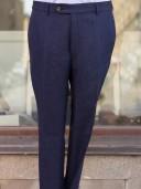 Bladen Navy Linen Mautby Trouser