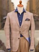 Bladen Gunton Wool/Silk/Linen Glen Check Blazer