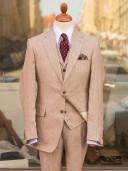 Bladen Irish Linen Beige HB 3-piece suit