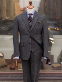 Bladen Harris Tweed Herringbone Three-piece Suit