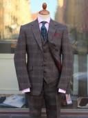 Bladen Grey/Brown Checked Three-piece Suit