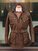 Private White V.C. Twin Track Olive Cotton Canvas Jacket