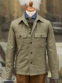 Private White V.C. Tropical Safari Shirt Jacket Olive