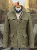 Private White V.C. Heavy Linen Field Jacket Olive