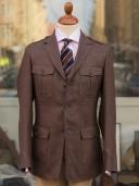 Bladen Brown Silk Wool Safari Jacket