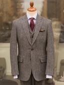 Bladen Harris Tweed Grey Herringbone Jacket
