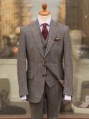 Bladen Harris Tweed Grey Herringbone Three-piece Suit