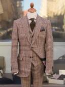 Bladen Harris Tweed Glen Check Three-piece Suit