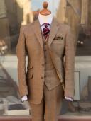 Bladen Light Brown Linen 3-piece suit