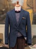 Bladen Harris Tweed Navy HB Gunton Jacket