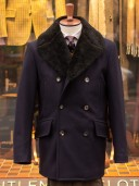 Private White V.C. Melton Shearling Peacoat