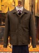 Gloverall Melton Donkey Shirt Jacket Khaki